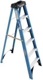 Werner 6' Fiberglass Step Ladder (250 lb. Load Capacity)