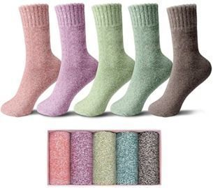 5 Pack of Wool Socks with Box
