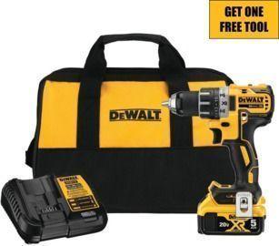 DeWalt 20V MAX XR Cordless 1/2 Drill/Driver Kit + Free Tool