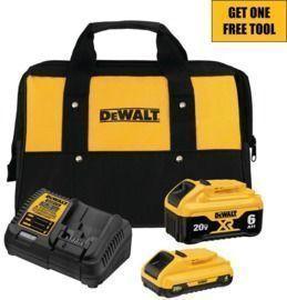 DeWalt 20V MAX 2-Battery Starter Kit + Free Tool