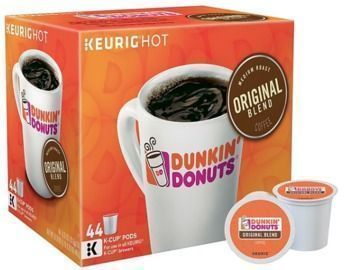 Dunkin' Donuts Original Blend Coffee Pods, Medium Roast, 44/Box