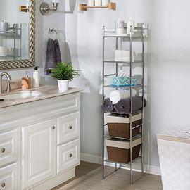 Honey-Can-Do BTH-03484 6 Tier Metal Tower Bathroom Shelf
