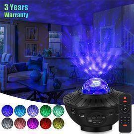 LED Bluetooth Speaker Starry Sky Lamp with Moon & Star Night Light