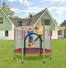 Kledbying 5' Kids Child Trampoline with Enclosure Net