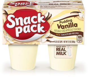 4 Pack of Snack Pack Pie Pudding Cups, Vanilla