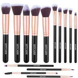 14Pcs Synthetic Foundation Makeup Set Brushes
