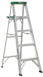 Werner 5 ft. Aluminum Step Ladder with 225 lb. Load Capacity