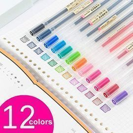 12 Count Premium Gel Ink Ball Point Pens