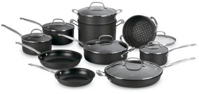 Cuisinart Chef's Classic 17-Pc. Non-Stick Hard Anodized Cookware Set