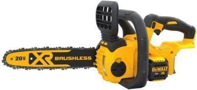 12 DeWALT 20-Volt MAX Compact Brushless Chainsaw