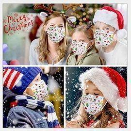 50 Pack of Disposable Christmas Masks - Adult & Child sizes