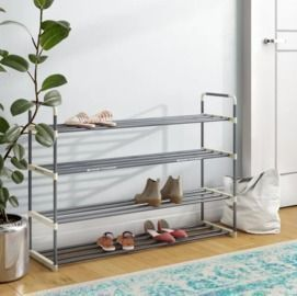Rebrilliant 4 Tier 24 Pair Shoe Rack