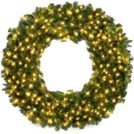 4' Pre-Lit Artificial Fir Christmas Wreath