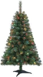 4ft Pre-Lit Riverside Pine Artificial Christmas Tree