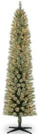 7ft. Pre-Lit Artificial Cashmere Pencil Christmas Tree