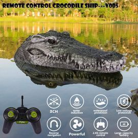 Crocodile Head Floating RC Boat (Green Only)