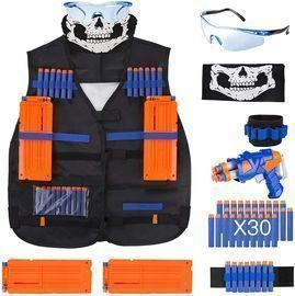 Elite Tactical Vest Kit + 40-Dart Refill Pack
