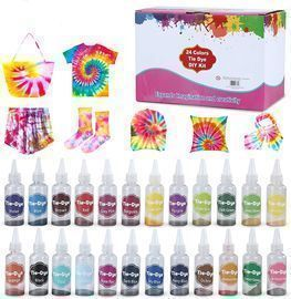 24 Color Fabric Tie Dye Kit - Just add water