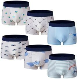 6 Pack of Boys Boxer Briefs
