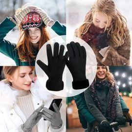 Warm Winter Fleece Lined Windproof Gloves