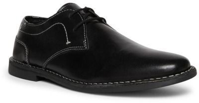 Steve Madden Men's Contrast Stitch Leather Derby Shoes
