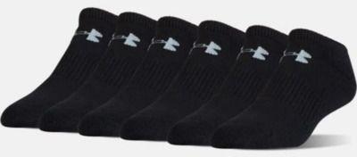UA Charged Cotton 2.0 No Show Socks