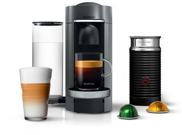 Nespresso by De'Longhi Vertuo Plus Deluxe Coffee & Espresso Maker w/ Aerocinno Frother