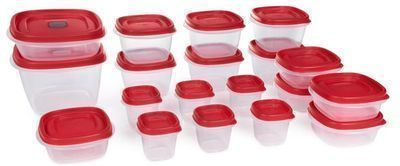 Rubbermaid Easy Find Vented Lids Food Storage Container, 38 Total Pieces