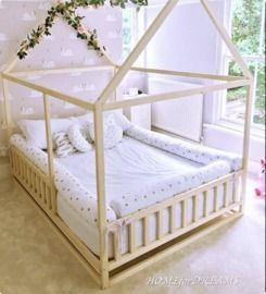 Toddler House Bed w/ Slats / Montessori Floor Bed