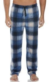 Perry Ellis Relaxed-Fit Plaid Fleece Pajama Pants