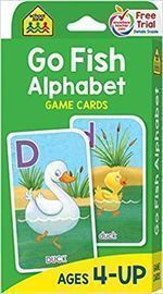 School Zone - Go Fish Alphabet Game Cards