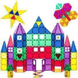 Playmags 3D Magnetic Blocks for Kids Set of 100 Blocks