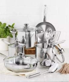 Stainless Steel 13-Pc. Cookware Set