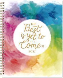 2021 Planner - Weekly & Monthly Planner with Twin-Wire Binding, 8 x 10