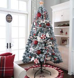 KINGSO 6' Flocked Christmas Tree