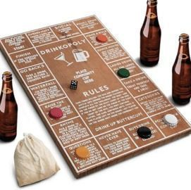 Hammer & Axe Wooden Drinkopoly Board Game