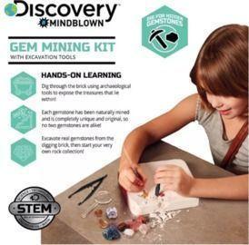 Discovery Mindblown Toy Excavation Kit Gems- STEM