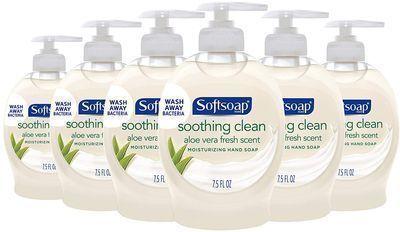 6 Pack of Softsoap Moisturizing Liquid Hand Soap