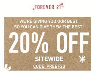 Forever 21 - 20% Off Sitewide