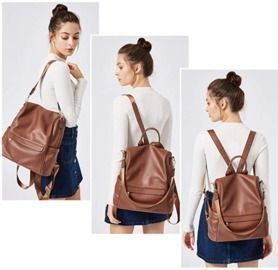 Women's Large Leather Backpack Purse
