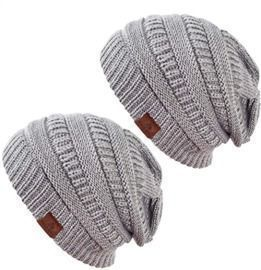 Women's Knit Beanie Hat - 2 packs
