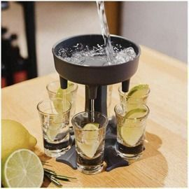 WowTowel 6 Shot Glass Dispenser and Holder