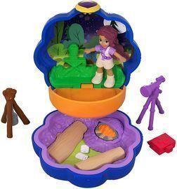 Polly Pocket Tiny Pocket Places Camping Compact! - Shani Doll