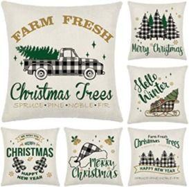 18x18 Christmas Pillows - Set of 4