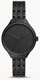 Women's Suitor Three-Hand Black Stainless Steel Watch