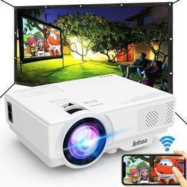 GREAT PRICE - Wifi Mini Projector & 100 Projector Screen w/ smart 