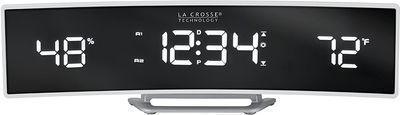 La Crosse Technology Curved Digital Alarm Clock w/ Mirrored LED Lens Display