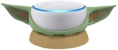 Echo Dot (3rd Gen) Sandstone with Mandalorian The Child stand