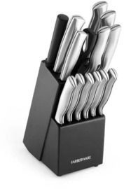 Farberware 15pc Stainless Steel Knife Block Set