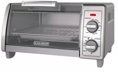 Black + Decker 4-Slice Stainless Steel Toaster Oven